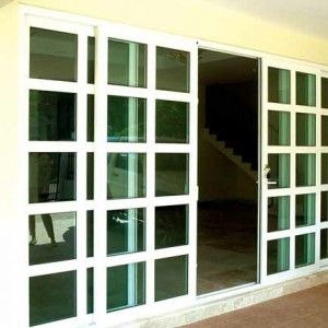 yellow wood glass door - Advanced uPVC